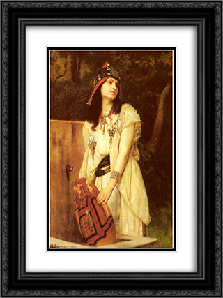 A Woman with an Urn 18x24 Black or Gold Ornate Framed and Double Matted Art Print by Gustave Boulanger