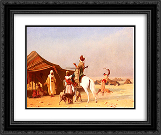 It's the Emir 24x20 Black or Gold Ornate Framed and Double Matted Art Print by Gustave Boulanger