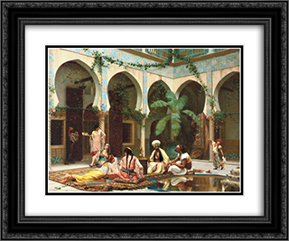 Le harem du palais 24x20 Black or Gold Ornate Framed and Double Matted Art Print by Gustave Boulanger
