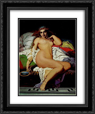 Phryne 20x24 Black or Gold Ornate Framed and Double Matted Art Print by Gustave Boulanger
