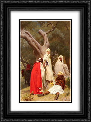 Reception Of An Emir 18x24 Black or Gold Ornate Framed and Double Matted Art Print by Gustave Boulanger