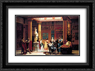The Flute Concert 24x18 Black or Gold Ornate Framed and Double Matted Art Print by Gustave Boulanger