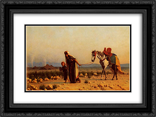 The Return 24x18 Black or Gold Ornate Framed and Double Matted Art Print by Gustave Boulanger