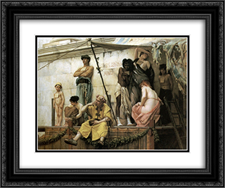 The Slave Market 24x20 Black or Gold Ornate Framed and Double Matted Art Print by Gustave Boulanger