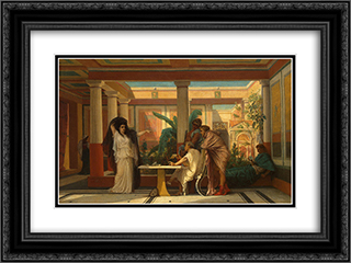 Theatrical Rehearsal in the House of an Ancient Rome Poet 24x18 Black or Gold Ornate Framed and Double Matted Art Print by Gustave Boulanger