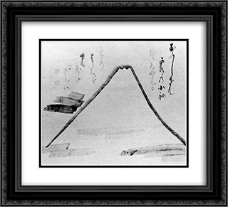 Fujiyama from Shoin-ji 22x20 Black or Gold Ornate Framed and Double Matted Art Print by Hakuin Ekaku