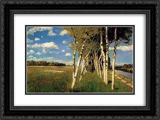 Eind Sommertag in Worpswede 24x18 Black or Gold Ornate Framed and Double Matted Art Print by Hans am Ende