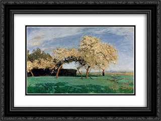 Fruehlingstag 24x18 Black or Gold Ornate Framed and Double Matted Art Print by Hans am Ende
