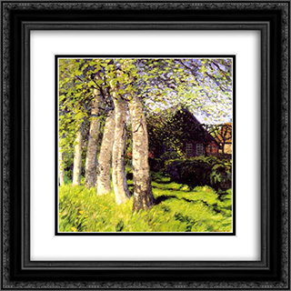 Fruhling in Worpswede 20x20 Black or Gold Ornate Framed and Double Matted Art Print by Hans am Ende