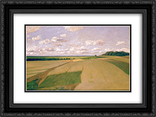 Weyerberg under the clouds 24x18 Black or Gold Ornate Framed and Double Matted Art Print by Hans am Ende