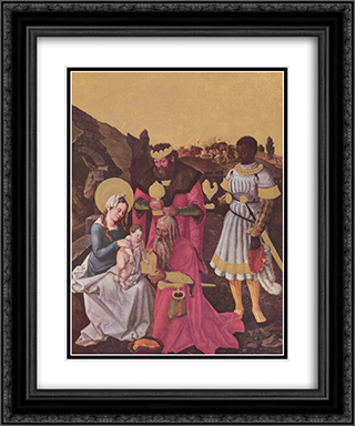 Adoration of the Magi 20x24 Black or Gold Ornate Framed and Double Matted Art Print by Hans Baldung
