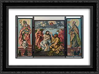 Altar of St. John the Baptist 24x18 Black or Gold Ornate Framed and Double Matted Art Print by Hans Baldung