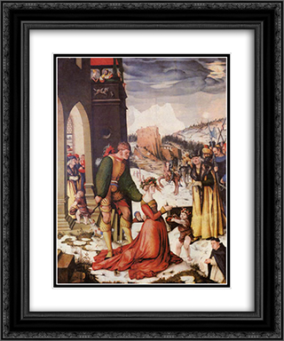 Beheading of St. Dorothea 20x24 Black or Gold Ornate Framed and Double Matted Art Print by Hans Baldung
