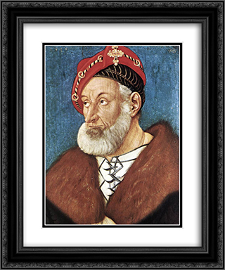 Count Christoph I Of Baden 20x24 Black or Gold Ornate Framed and Double Matted Art Print by Hans Baldung