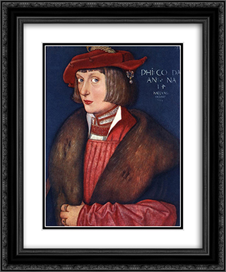 Count Philip 20x24 Black or Gold Ornate Framed and Double Matted Art Print by Hans Baldung