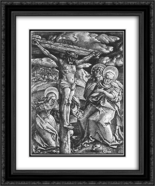 Crucifixion 20x24 Black or Gold Ornate Framed and Double Matted Art Print by Hans Baldung