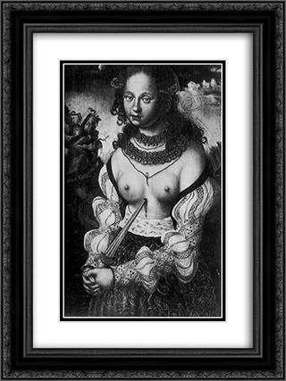Dagger Madonna 18x24 Black or Gold Ornate Framed and Double Matted Art Print by Hans Baldung