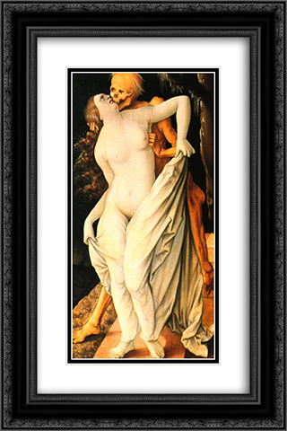 Death and wife 16x24 Black or Gold Ornate Framed and Double Matted Art Print by Hans Baldung
