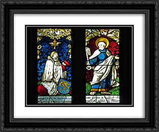 Grien in the church St. George Gutach Bleienbach 24x20 Black or Gold Ornate Framed and Double Matted Art Print by Hans Baldung