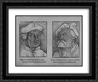 Hans Baldung Grien and John Rudalfinger 24x20 Black or Gold Ornate Framed and Double Matted Art Print by Hans Baldung