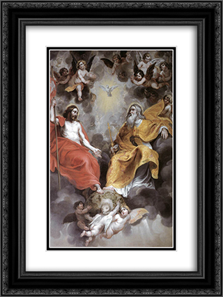 Holy Trinity 18x24 Black or Gold Ornate Framed and Double Matted Art Print by Hans Baldung