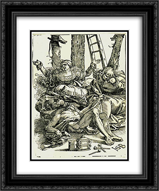 Lamentation 20x24 Black or Gold Ornate Framed and Double Matted Art Print by Hans Baldung