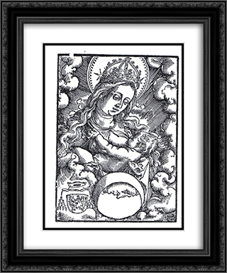 Madonna nursing 20x24 Black or Gold Ornate Framed and Double Matted Art Print by Hans Baldung