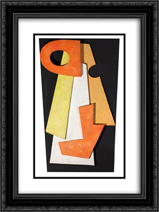 Dada Head 18x24 Black or Gold Ornate Framed and Double Matted Art Print by Hans Richter