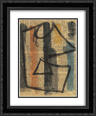 Plakatentwurf 20x24 Black or Gold Ornate Framed and Double Matted Art Print by Hans Richter