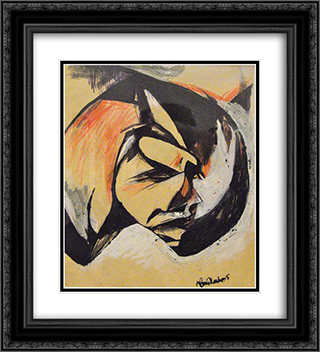 Portrait de Lou Marten 20x22 Black or Gold Ornate Framed and Double Matted Art Print by Hans Richter
