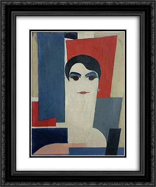 Portrait of Dora Rukser 20x24 Black or Gold Ornate Framed and Double Matted Art Print by Hans Richter