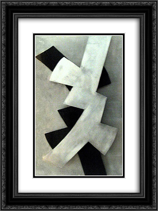 Pro Contra Variation 18x24 Black or Gold Ornate Framed and Double Matted Art Print by Hans Richter