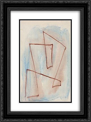 Sketch for Labyrinth - no. 301 18x24 Black or Gold Ornate Framed and Double Matted Art Print by Hans Richter