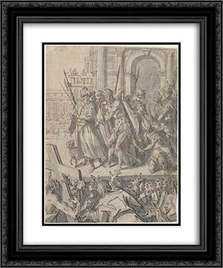 Ecce Homo 20x24 Black or Gold Ornate Framed and Double Matted Art Print by Hans von Aachen