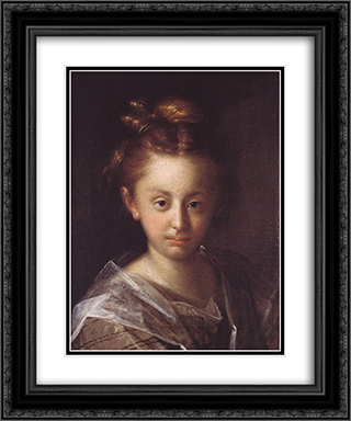 Portrait of a girl (Maria Maxmiliana) 20x24 Black or Gold Ornate Framed and Double Matted Art Print by Hans von Aachen