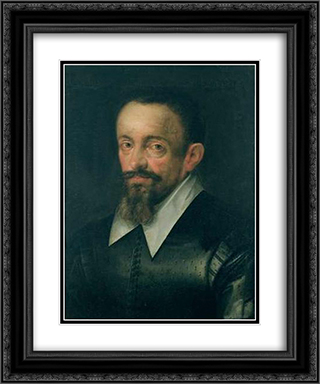 Portrait of a man, possibly Johannes Kepler 20x24 Black or Gold Ornate Framed and Double Matted Art Print by Hans von Aachen