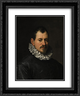 Portrait of Jacopo Biliverti 20x24 Black or Gold Ornate Framed and Double Matted Art Print by Hans von Aachen