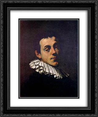 Portrait of Joseph Heintz 20x24 Black or Gold Ornate Framed and Double Matted Art Print by Hans von Aachen