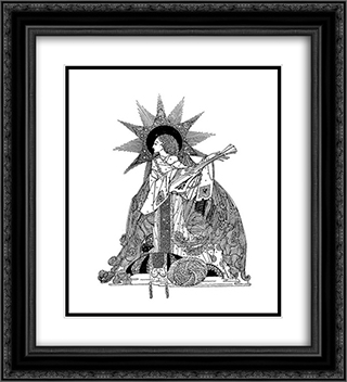 The Year's at the Spring 20x22 Black or Gold Ornate Framed and Double Matted Art Print by Harry Clarke