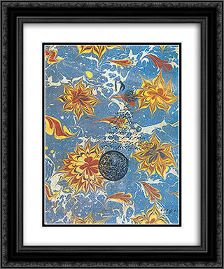 Suleymaniye Kutuphanesi 20x24 Black or Gold Ornate Framed and Double Matted Art Print by Hatip Mehmed Efendi