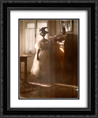 Mary Warner a contre-jour 20x24 Black or Gold Ornate Framed and Double Matted Art Print by Heinrich Kuhn