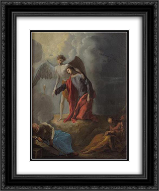 Christus am olberg 20x24 Black or Gold Ornate Framed and Double Matted Art Print by Heinrich Schonfeld