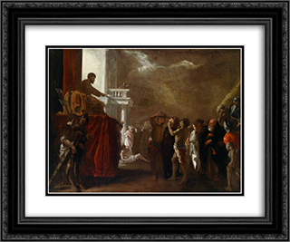 Der heilige Cyriakus 24x20 Black or Gold Ornate Framed and Double Matted Art Print by Heinrich Schonfeld