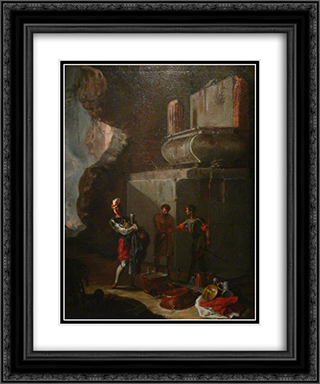 Die Plunderer 20x24 Black or Gold Ornate Framed and Double Matted Art Print by Heinrich Schonfeld