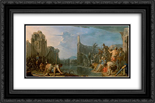 Gideon pruft sein Heer 24x16 Black or Gold Ornate Framed and Double Matted Art Print by Heinrich Schonfeld