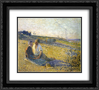Amour 22x20 Black or Gold Ornate Framed and Double Matted Art Print by Henri Martin