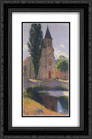 Church at Labastide du Vert 16x24 Black or Gold Ornate Framed and Double Matted Art Print by Henri Martin