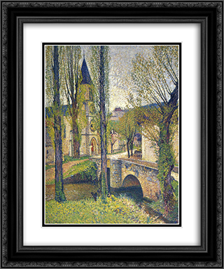 Church in Labastide 20x24 Black or Gold Ornate Framed and Double Matted Art Print by Henri Martin