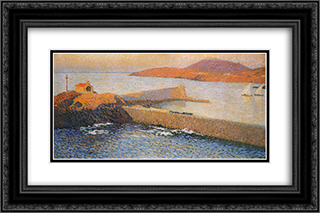Collioure Chapel of La Digue 24x16 Black or Gold Ornate Framed and Double Matted Art Print by Henri Martin