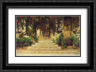 Doorway into the House 24x18 Black or Gold Ornate Framed and Double Matted Art Print by Henri Martin